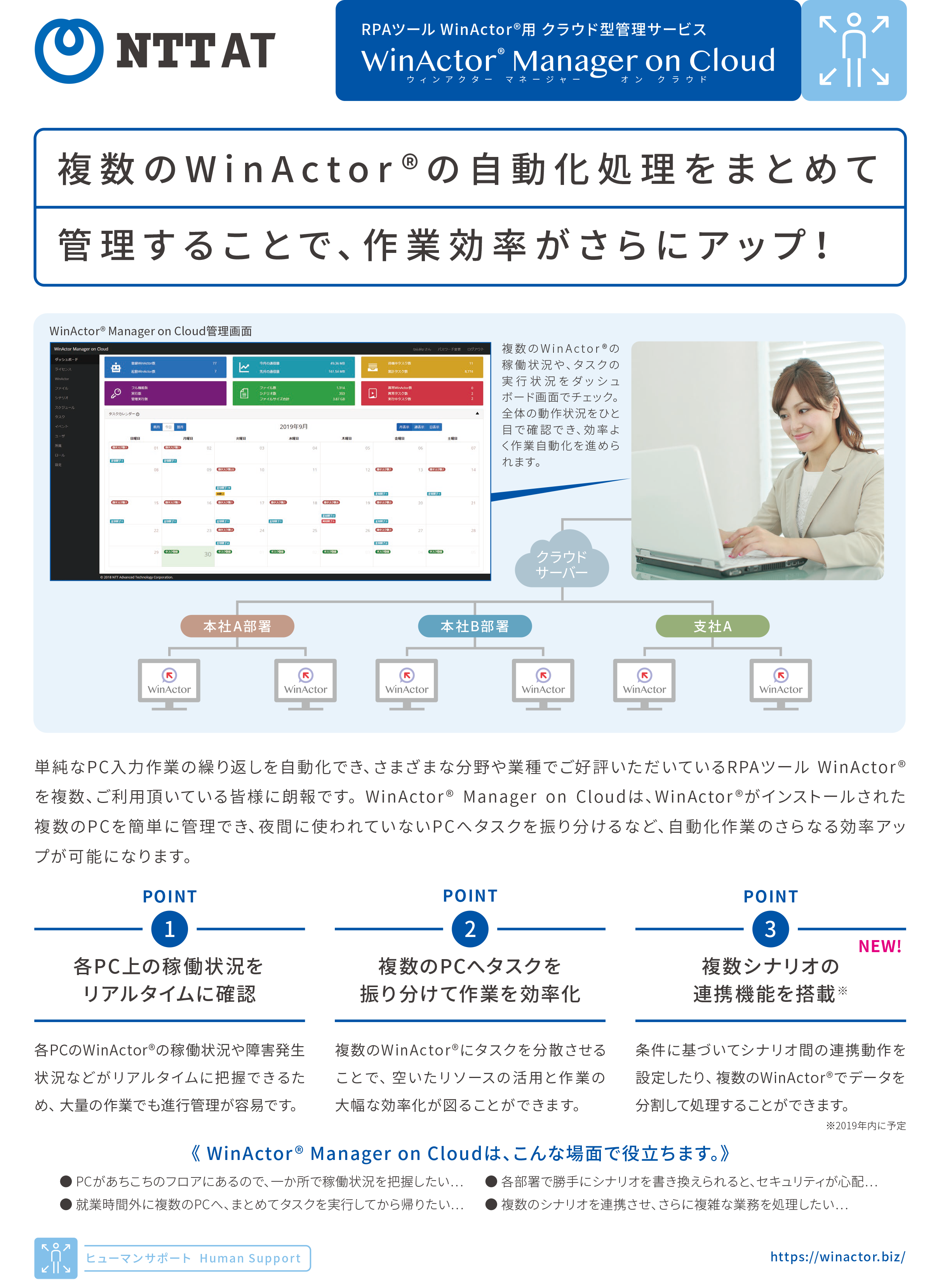 WinActor Manager on Cloud パンフレット